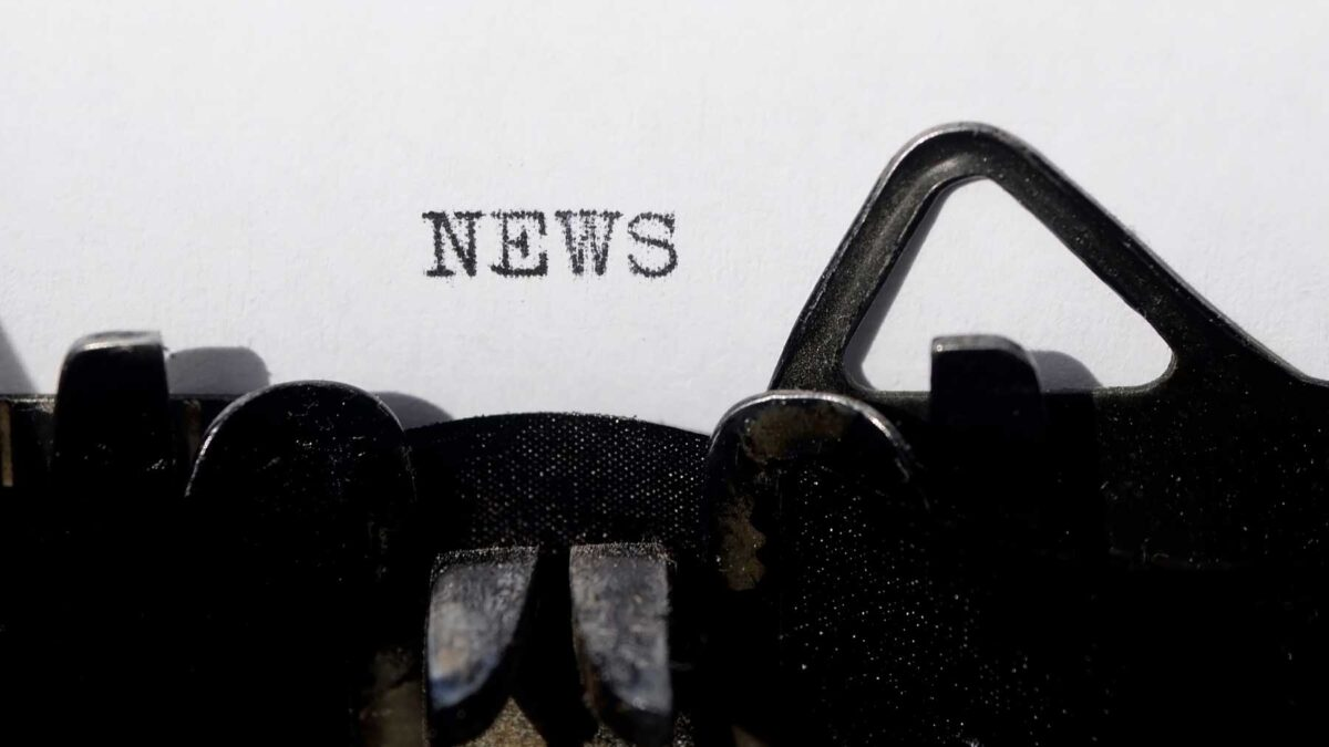 News typed on a typewriter